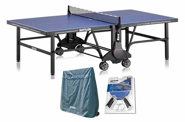Kettler Champ 5.0 Outdoor Table with Outdoor Accessory Bundle